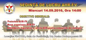 Miercuri 14 Septembrie 2016, Președintele Asociației Coșarilor dl. Cristian CETĂȚEANU a participat la Ședința de lucru a Asociației Inginerilor